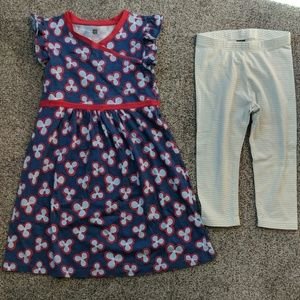 Tea collection dress and legging set, size 6